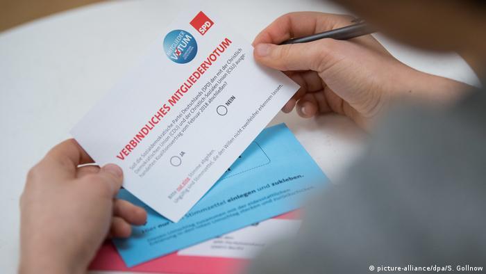 Deutschland SPD - Mitgliedervotum