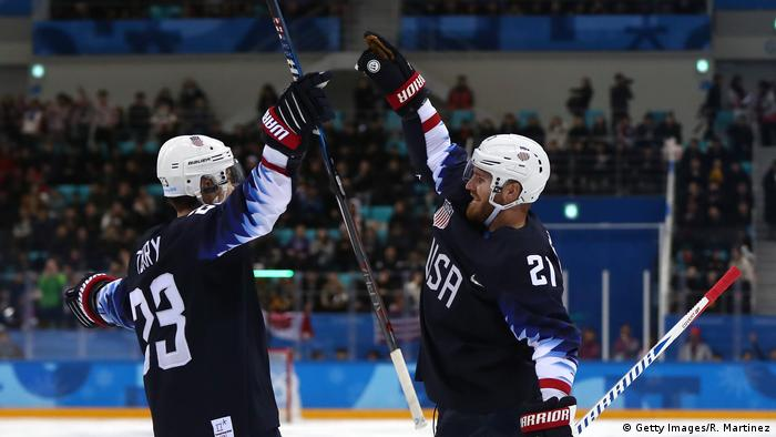 Pyeongchang 2018 Olympische Winterspiele Eishockey USA - SVK (Getty Images/R. Martinez)