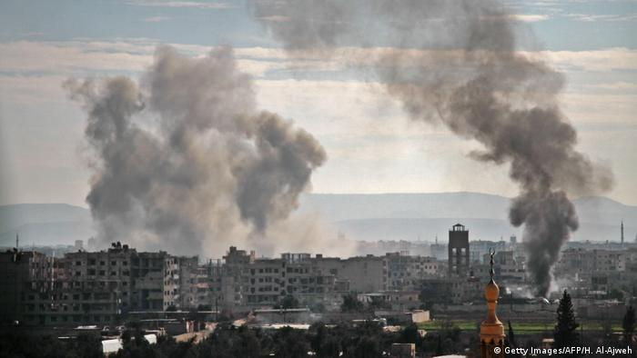 Syrian air bombardments against East-Ghouta