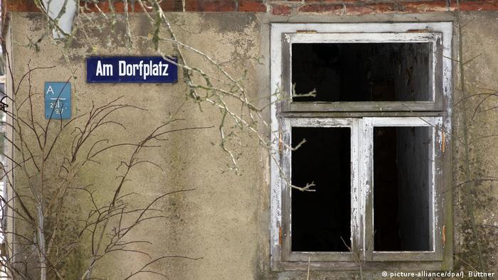 Leeres Dorf in Deutschland