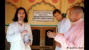 George Harrison from the Beatles in India (public domain)