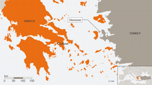 DW Map showing the location of Oinousses near Turkey