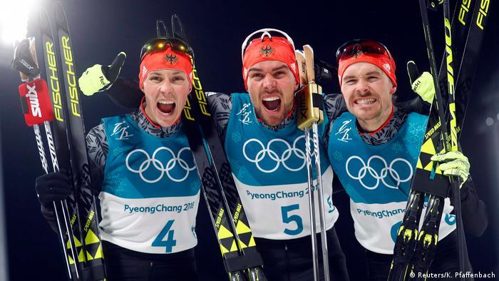 Pyeongchang Olympische Winterspiele Nordische Kombination Deutschland Gold, Silber, Bronze (Reuters/K. Pfaffenbach)
