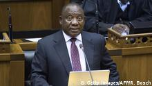 President Cyril Ramaphosa in parliament