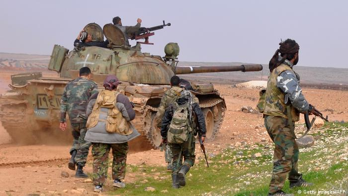 Syrian government forces prepare for an offensive in Idlib