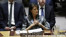 USA UN Sicherheitsrat Nikki Haley (picture-alliance/newscom/J. Angelillo)