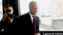 20.02.2018 Latvia's central bank governor Ilmars Rimsevics arrives at the news conference in Riga, Latvia February 20, 2018. REUTERS/Ints Kalnins