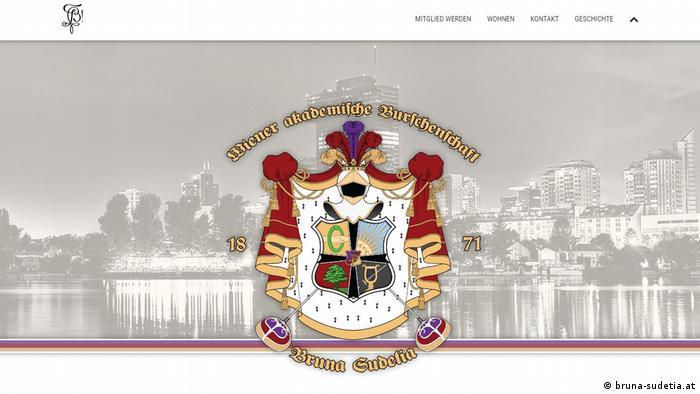 Screenshot Webseite Burschenschaft Bruna Sudetia