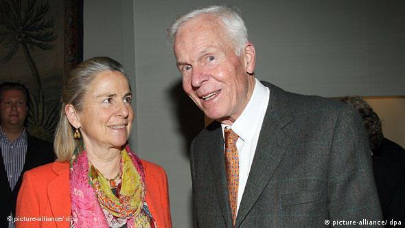 Барон Аугуст фон Финк с супругой