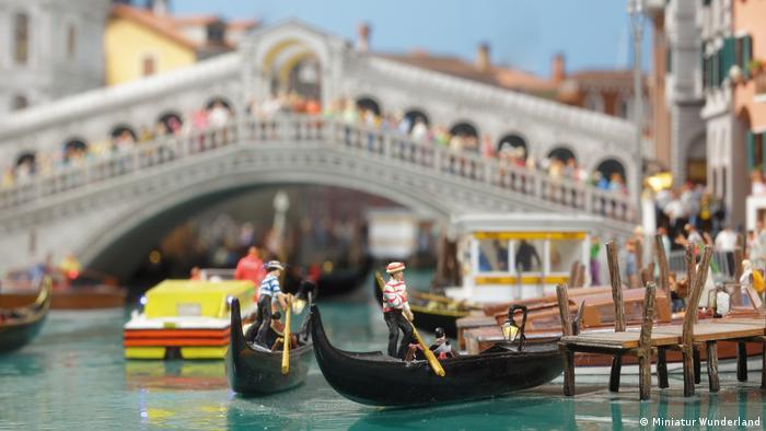 Wunderland in Hamburg — a scene in miniature Venice (Miniatur Wunderland)