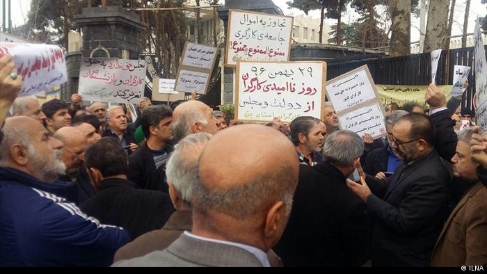Protest von Arbeitern in Teheran