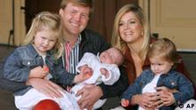 Kronprinz Willem Alexander mit Maxima und den Kindern