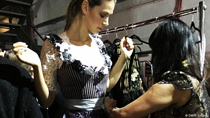 Fashion-show von Shanty Couture in Düsseldorf (DW/M. Linardy)