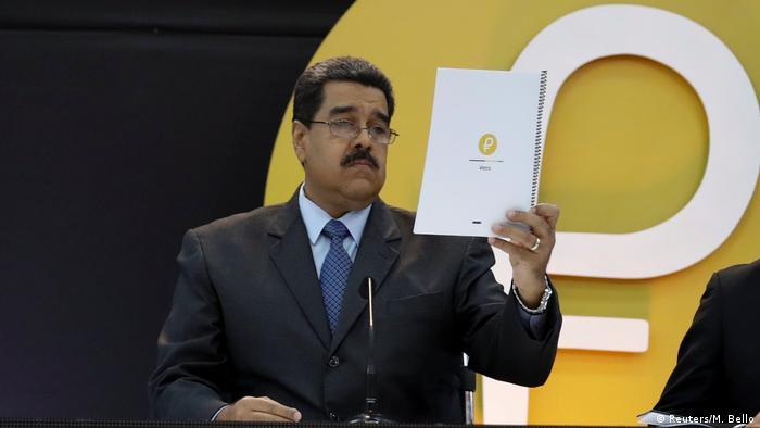 Venezuela - Venezuela startet eigene Kryptowährung Petro - Präsident Maduo (Reuters/M. Bello)