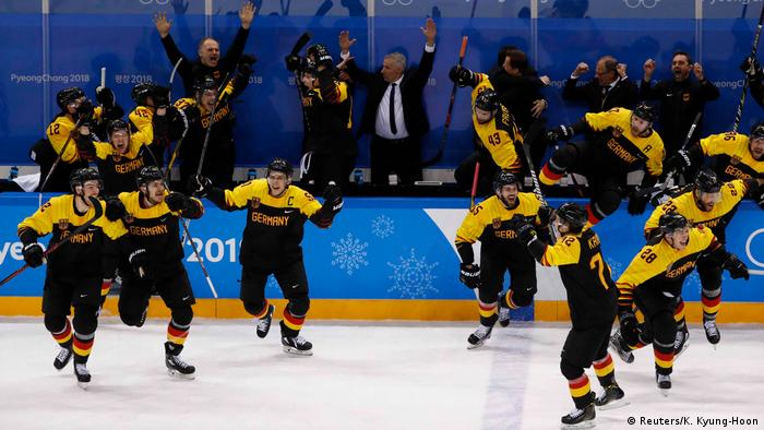 Olympische Winterspiele 2018 in Südkorea Eishockey Deutschland - Schweden