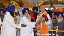 Indien Besuch von kanadischem Ministerpräsident Trudeau in Golden Tempel