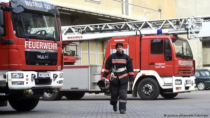 A female firefighter in Vienna