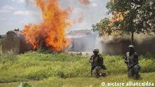 Soldiers from 21 Brigade and Army Engineers clearing Islamic militant group Boko Haram camps at Chuogori and Shantumari in Borno State, Nigeria