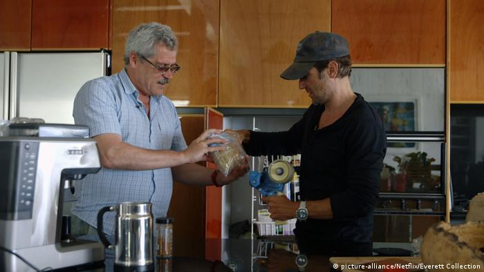 Grigory Rodchenkov (left) in the Icarus documentary