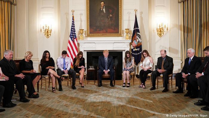 USA Washington - Trump trifft auf Überlebende des Amoklaufs der Douglas High School in Florida (Getty Images/AFP/M. Ngan)