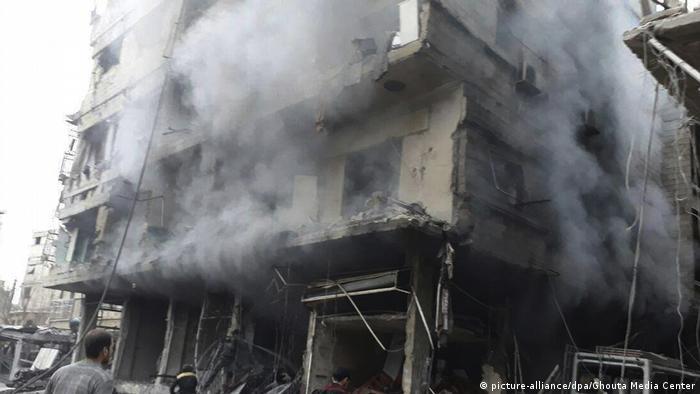 Во время бомбардировки в Восточно Гуте