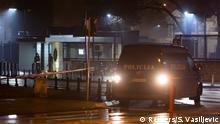 Montenegro Podgorica - Polizeiaufgebot an der US Botschaft nach Anschlag