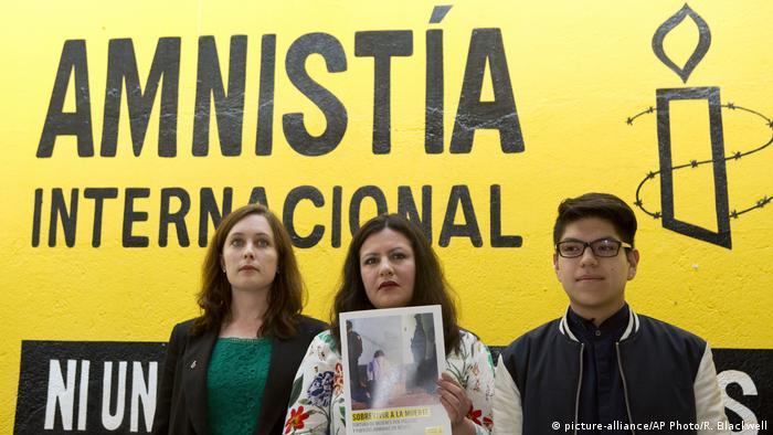 Madeleine Penman, Erika Guevara-Rosas, Byron Arellano (picture-alliance/AP Photo/R. Blackwell)