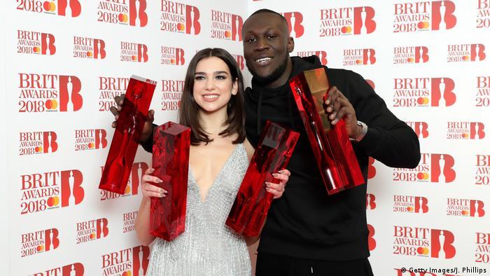 Brit Awards 2018 Dua Lipa und Stormzy