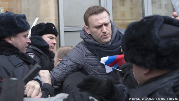 Russland Wahlen - Alexei Navalny wird festgenommen
