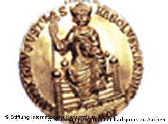 Медаль, которую получают лауреаты премии имени Карла Великого