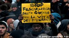 Italien Anti-Rassismus Protest in Macerata