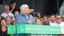 Gewerkschaften protestieren in Argentinien - Gewerkschaftsführer Hugo Moyano