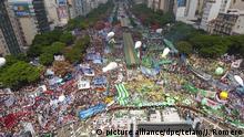 Gewerkschaften protestieren in Argentinien