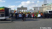 Ethiopians Demo in Berlin opposing EU's deal with African dictators to send back asylum seekers