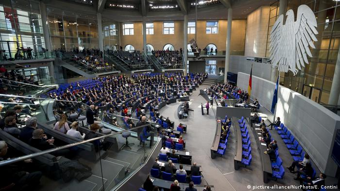 The Bundestag, Germany's parliament (picture-alliance/NurPhoto/E. Contini)