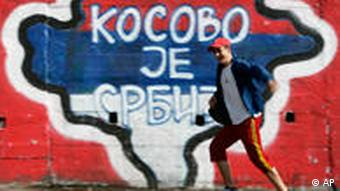 Graffiti reading Kosovo is Serbia