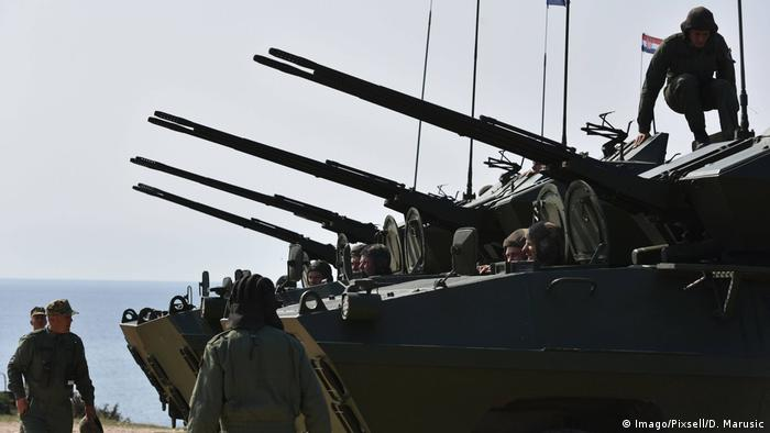 Slowenische und kroatische Armee - Militärübung (Imago/Pixsell/D. Marusic)