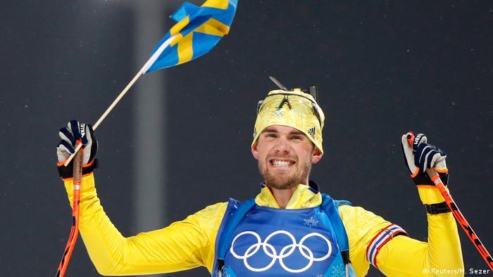 Fredrik Lindstroem celebrates