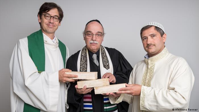 Pastor Gregor Hohberg, Rabbi Andreas Nachama and Imam Kadir Sanci