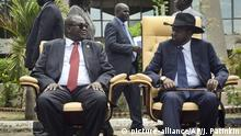 Südsudan Riek Machar Salva Kiir (picture-alliance/AP/J. Patinkin)