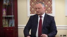 DW-Videointerview, das DW-Reporter Juri Rescheto mit dem moldauischen Präsidenten Igor Dodon DW, Juri Rescheto, 21.02.