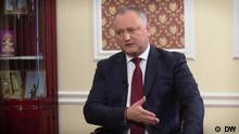 DW-Interview mit Igor Dodon, Präsident, Moldawien