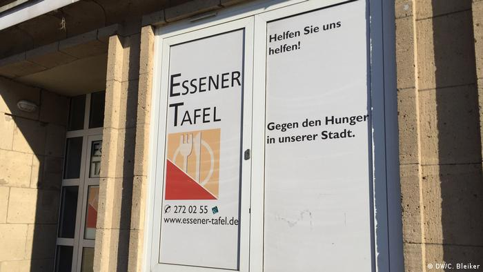 The entrance to the Essen food bank