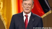 Bundespräsident Horst Köhler spricht am Freitag (22.05.2009) im Schauspielhaus in Berlin während des Festaktes zum 60jährigen Bestehen der Bundesrepublik Deutschland. Foto: Wolfgang Kumm dpa/lbn +++(c) dpa - Bildfunk+++
