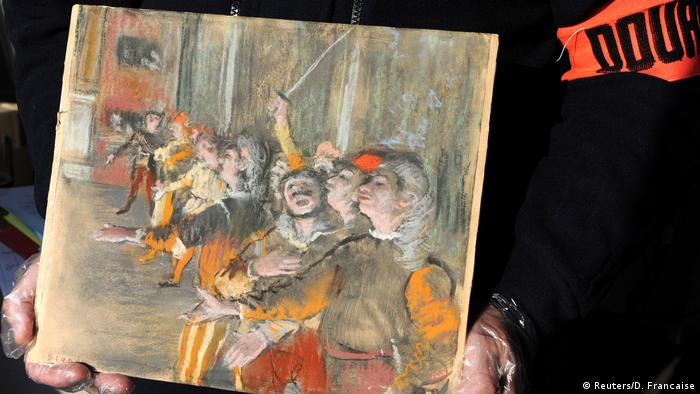 Stolen painting by French master Degas found on bus near Paris
