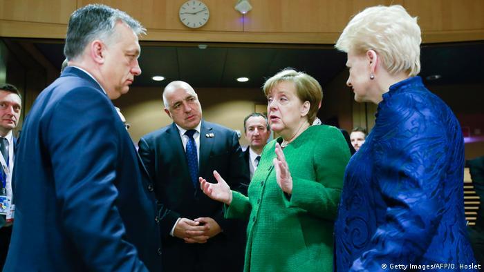 EU Gipfel Merkel Gespräche Orban Borissov