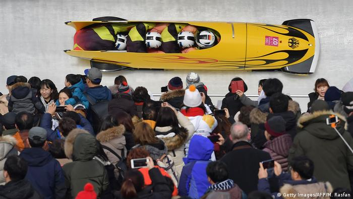 Olympische Winterspiele 2018 in Südkorea Viererbob (Getty Images/AFP/M. Rasfan)
