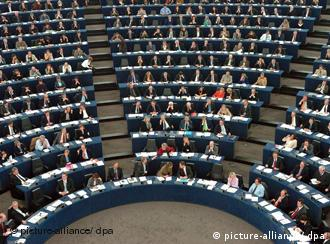 View of a plenary session of the EU Parliament in Strasbourg