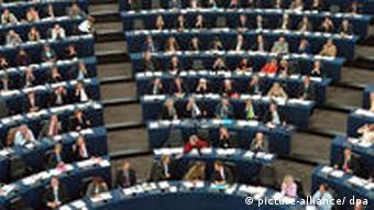 Зал заседаний Европарламента в Страссбурге