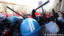 Italien | Tränengaseinsatz gegen Lega Nord-Gegner